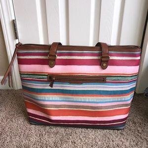 [Elliott Lucca] Striped Watercolor Tote Bag